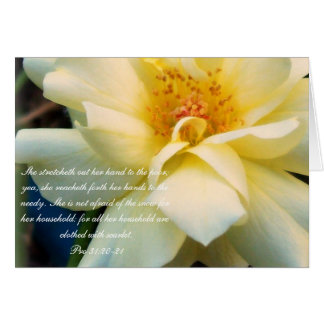 Proverbs 31 Collection ~Pro 31:20-21 Card