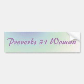 Proverbs 31 Purple and Green Bumper Sticker