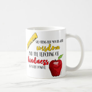 Proverbs 31 Teacher Coffee Mug