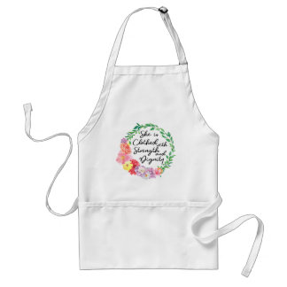 Proverbs 31 Woman Clothed with Strength & Dignity Standard Apron