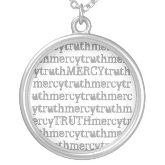 Proverbs 3:3 silver plated necklace
