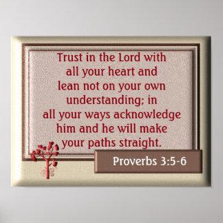 Proverbs 3:5-6 ~~art print