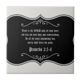 Proverbs 3:5-6 Bible Verse Custom Christian Gift Small Square Tile
