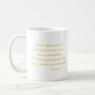 Proverbs 3:5-6 | Bible Verse | Yellow Coffee Mug