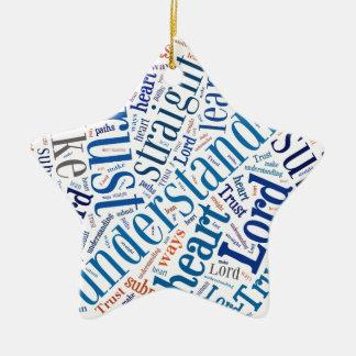 Proverbs 3:5-6 ceramic star decoration