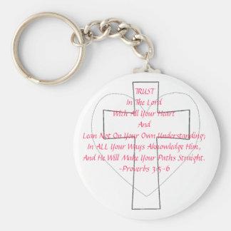 Proverbs 3:5-6 key ring
