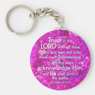 Proverbs 3:5-6 KJV Trust in the Lord Key Ring
