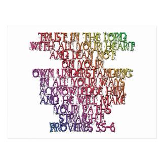 Proverbs 3:5-6 postcard