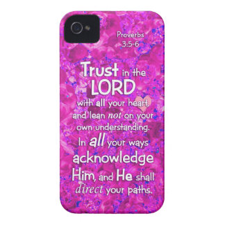 Proverbs 3 5-6 Trust in the Lord Bible Verse Quote iPhone 4 Covers