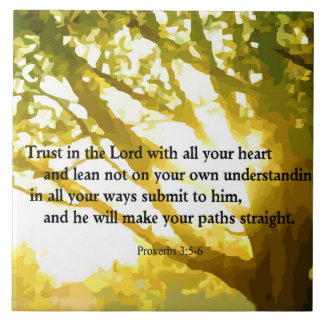 Proverbs 3:5-6 Trust in the Lord Decorative Tile