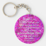 Proverbs 3:5-6 Trust in the Lord Key Chains