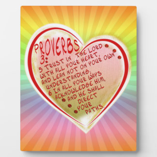 PROVERBS 3:5-6 TRUST IN THE LORD W ALL YOUR HEART PHOTO PLAQUES