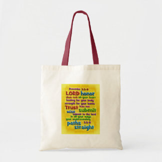 Proverbs 3:5-8 Yellow Foil Tote Bag