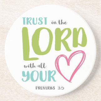 PROVERBS 3 VERSE 5 COASTER