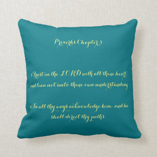 Proverbs Chapter 3:5-6 Pillow