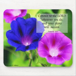 Proverbs - Morning Glories Mousepad