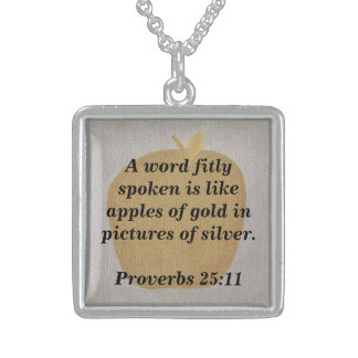 Proverbs Word fitly spoken apples of gold Necklace