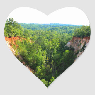 PROVIDENCE CANYON - Lumpkin, Georgia Heart Sticker