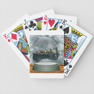 Providence Island Snow Globe Bicycle Playing Cards