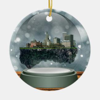 Providence Island Snow Globe Ceramic Ornament