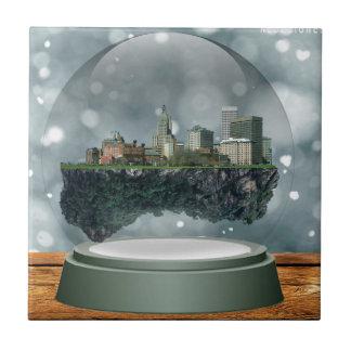 Providence Island Snow Globe Ceramic Tile