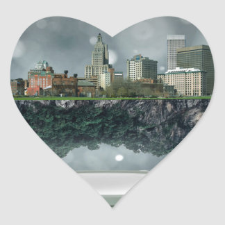 Providence Island Snow Globe Heart Sticker