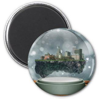 Providence Island Snow Globe Magnet
