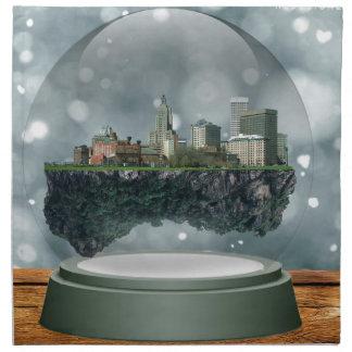 Providence Island Snow Globe Napkin