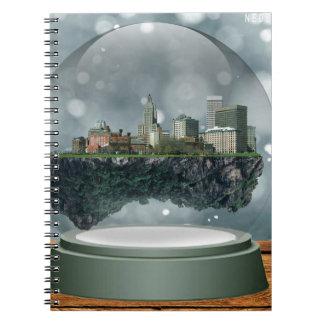 Providence Island Snow Globe Notebook
