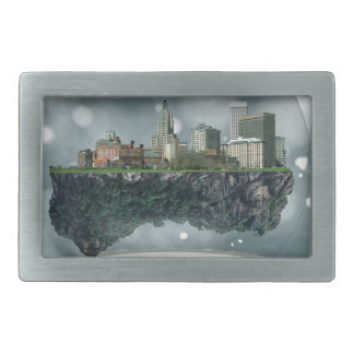 Providence Island Snow Globe Rectangular Belt Buckles