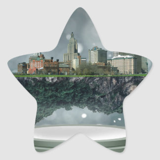 Providence Island Snow Globe Star Sticker