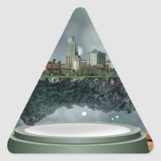 Providence Island Snow Globe Triangle Sticker