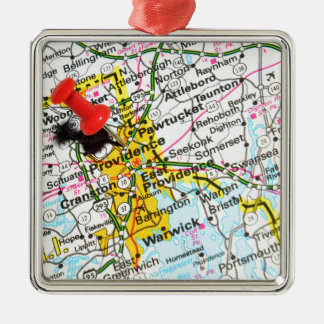 Providence, Rhode Island Metal Ornament