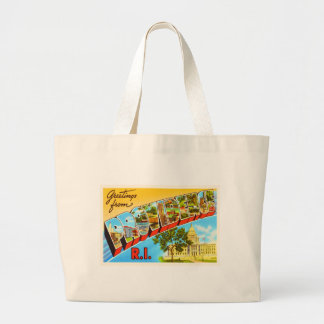 Providence Rhode Island RI Vintage Travel Souvenir Large Tote Bag