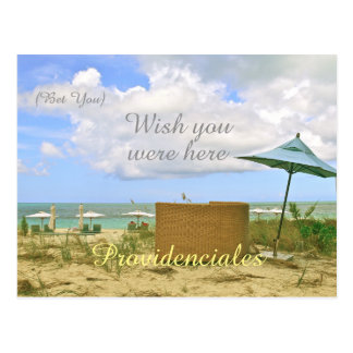 """""""PROVIDENCIALES/(BET YOU) WISH YOU WERE HERE"""" POSTCARD"""