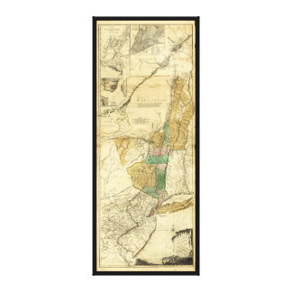 Provinces of New York New Jersey Map (1776) Stretched Canvas Print