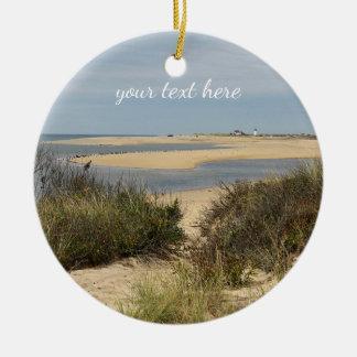 Provincetown Beach on Cape Cod Ceramic Ornament