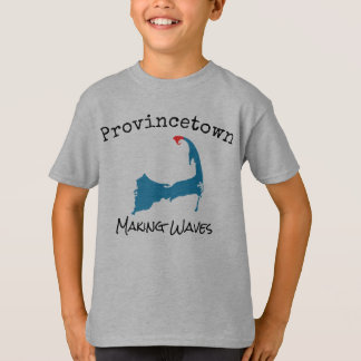 Provincetown Mass Making Waves boy's shirt, grey T-Shirt