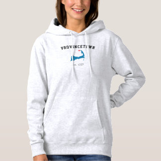 Provincetown Massachusetts Hoodie Sweatshirt, grey