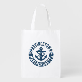 Provincetown Massachusetts Reusable Grocery Bag