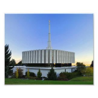 Provo, Utah LDS Temple Photographic Print