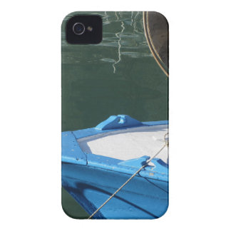 Prow of a wooden fishing boat with trawl winch iPhone 4 cover