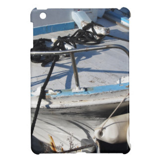 Prow of fishing boat moored in the harbor iPad mini covers