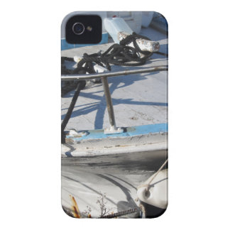 Prow of fishing boat moored in the harbor iPhone 4 cover