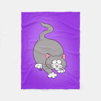 Prowling Kitty Fleece Blanket