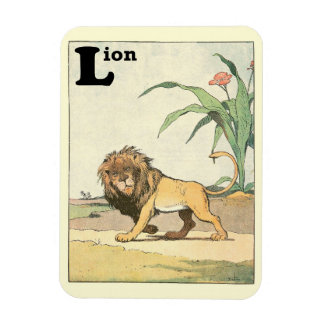 Prowling Lion Story Book Magnet