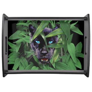 PROWLING PANTHER SERVING TRAY