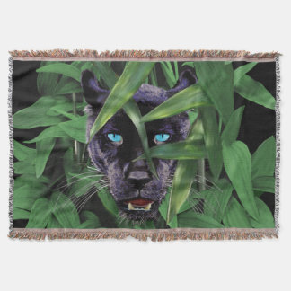PROWLING PANTHER THROW BLANKET