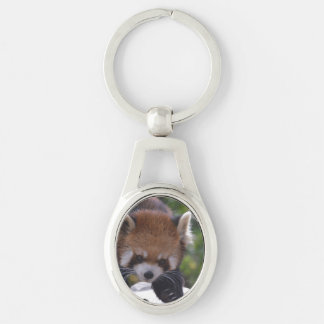 Prowling Red Panda Key Ring