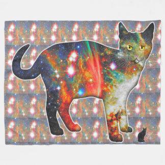 """""""Proxima"""" Space In Cat Fleece Blanket"""
